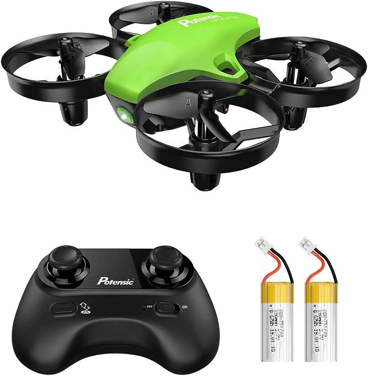 RC  Grün Grün Potensic Mini Drohne mit 2 Akkus für Kinder und Anfänger
