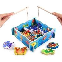 BSTQC Speelgoed vissen spel,Houten speelgoed vissen spel educatief leren spel sterke veiligheid vroege kindertijd…