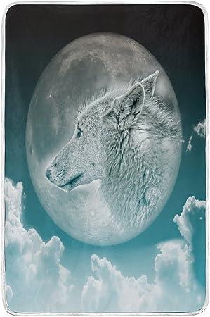 Lit Couverture, Luxe Vintage Loup Imprimé doux Doudou ...