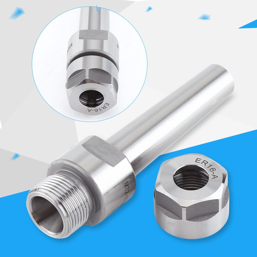 Akozon CNC Milling Tools MT2-ER16-50 MT2 Holder M10 Taper Collet Chuck Holder Face Milling Arbor Adapter