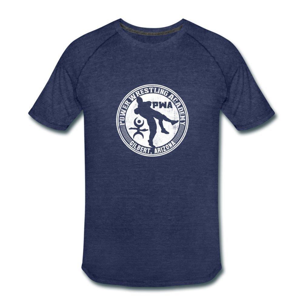 ATHLETE ORIGINALS Men's Tri-Blend Performance T-Shirt by Cb Dollaway L Heather Navy by ATHLETE ORIGINALS
