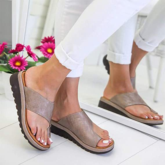 Amazon.com: Sharemen 2019 New Women Comfy Platform Sandal Shoes Summer Beach Travel Shoes Fashion Sandals Comfortable Ladies Shoes: Clothing