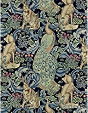 Journal: Vintage Art Nouveau Peacock Print   150 College-ruled Pages   8.5 x 11 - A4 Size