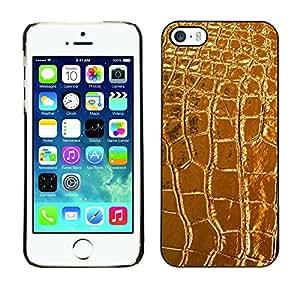 TopCaseStore / la caja del caucho duro de la cubierta de protección de la piel - Leather Crocodile Luxury Luxurious - Apple iPhone 5 / 5S