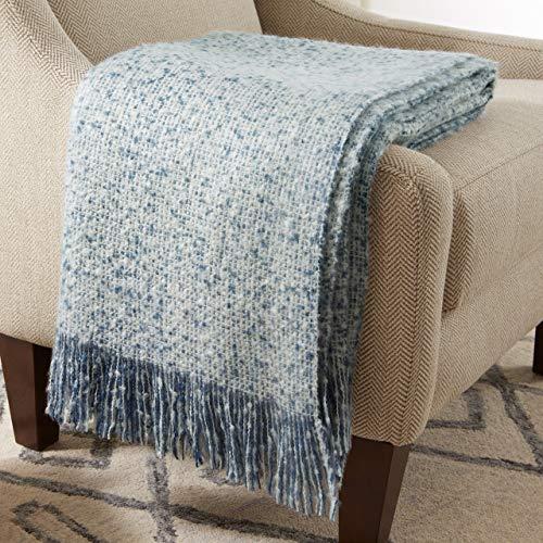 Stone & Beam Oversized Stripe Brushed Weave Throw Blanket, 60