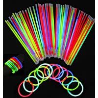 Glowsticks, Vivii 100 Light up Toys Glow Stick Bracelets...
