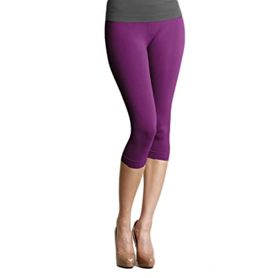 Nikibiki Capri Leggings Solid Ns5081 O/s (One Size, Purple)