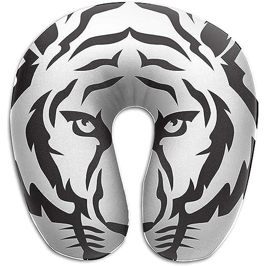 Almohadas De Viaje,Tiger Cartoon Face Memory Foam Cojín ...