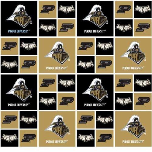 PURDUE BOILERMAKERS COTTON FABRIC-100% COTTON -PURDUE BOILERMAKERS FABRIC SOLD BY THE YARD-PURDUE BOILERMAKERS #20 SYKEL-COLLEGE COTTON FABRIC
