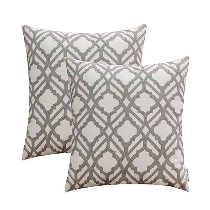 Amazon HWY 40 Grey Decorative Throw Pillows Covers For Couch Awesome Grey Decorative Bed Pillows