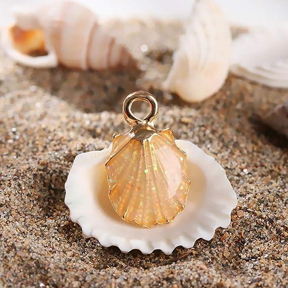 collane fatti a mano per gioielli fai da te bracciali orecchini 13 ciondoli smaltati a forma di conchiglia marina decorazioni regalo