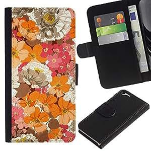 Paccase / Billetera de Cuero Caso del tirón Titular de la tarjeta Carcasa Funda para - Flowers Field Floral Spring Nature - Apple Iphone 6 4.7