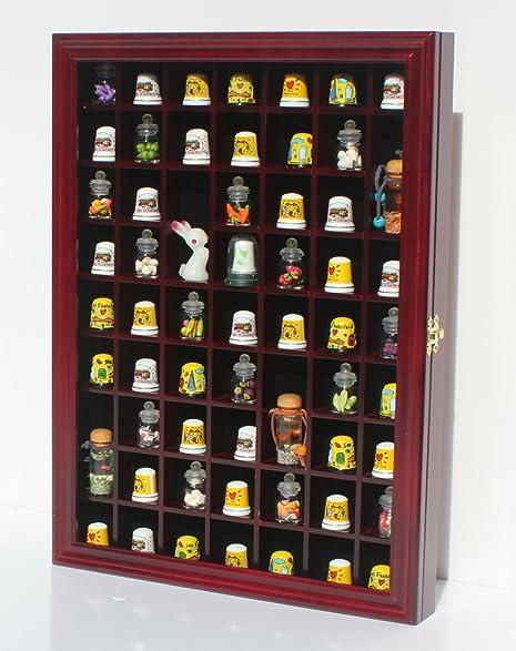 Amazon.com: 59 Thimble Display Case Wall Shadow Box Cabinet, Glass ...