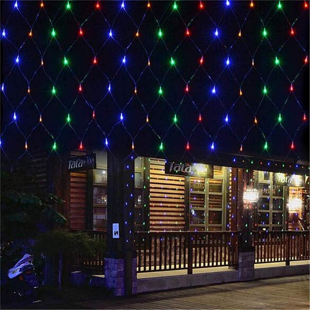 LDD-wd , 8 Modos de iluminación Impermeable al Aire Libre del Patio Trasero Neta Luz Terraza Balcón Valla de Malla luz de Hadas de Cuerda, Muro Cortina de Techo Decoración Double 3 *