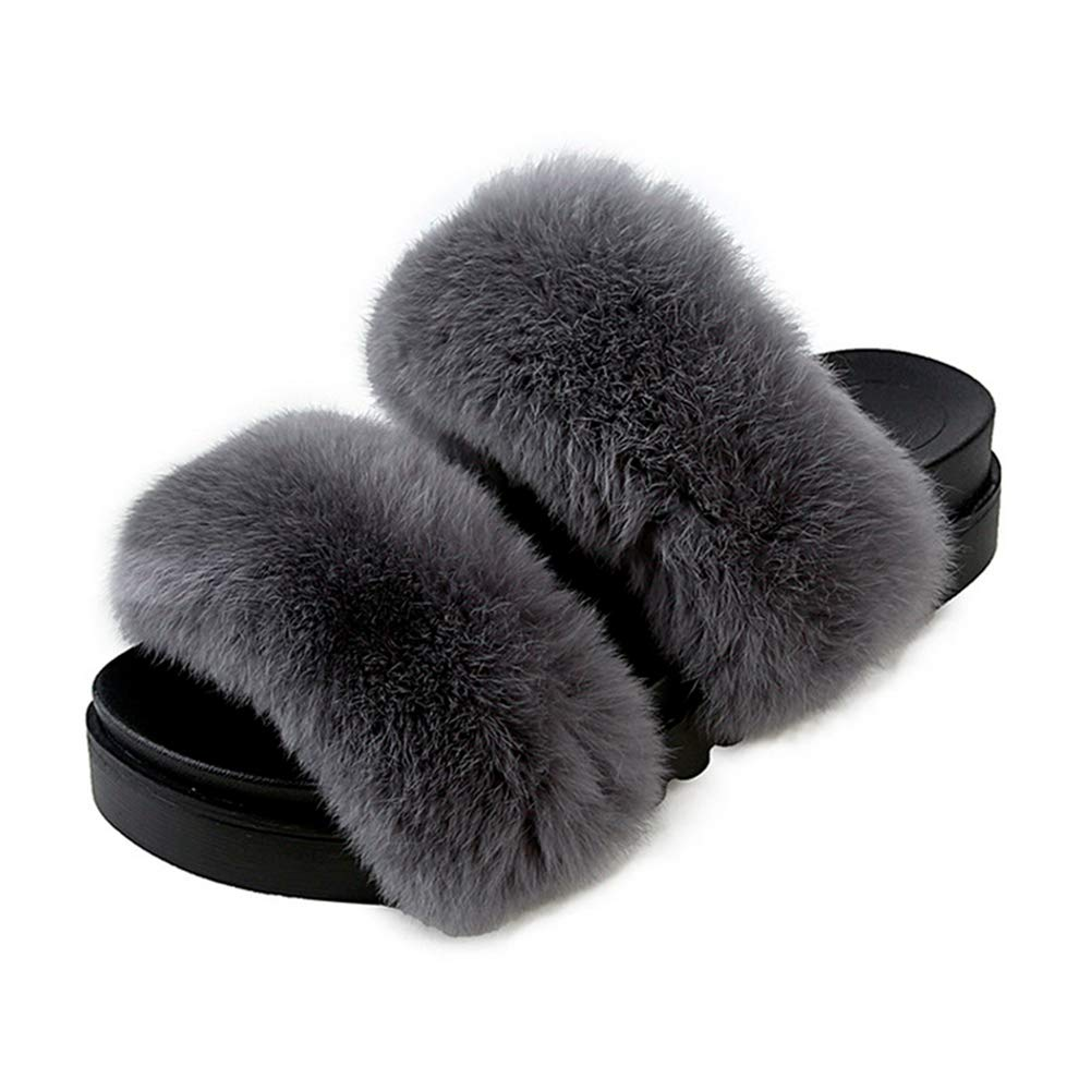 NOMIMAS Women Slippers Home Indoor Short Plush Slippers Female Comfortable Faux Fur Ladies Slides Shoes