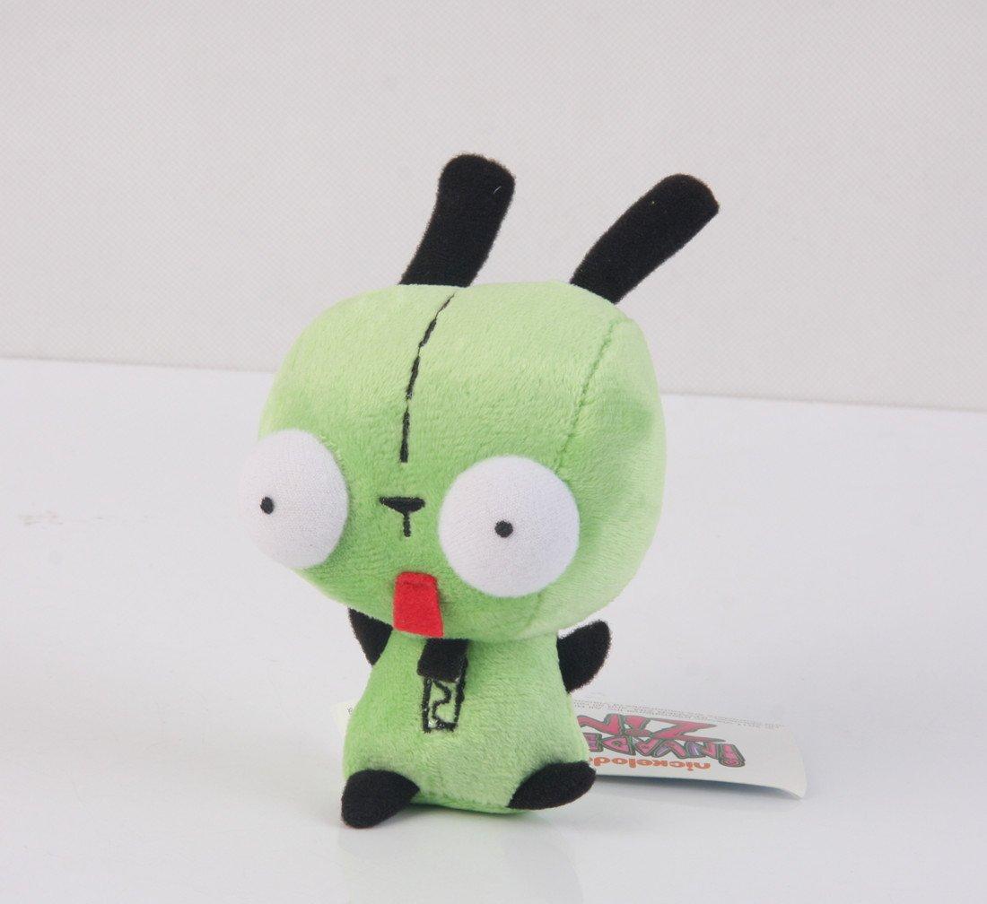 Wanna2017 Alien Invader Zim Dog Suit Gir Robot Plush Doll Toy 5 inch Xmas Gift
