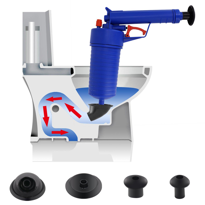 Toilet Plunger, Air Power Drain Blaster Gun Sink Drain Plunger for Toilet / Bathtub / Sink / Kitchen Clogged Pipe by ANTOGOO