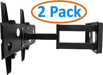 Flat Screen TV Computer Monitors Wall Mount Full Motion Corner Bracket Holders