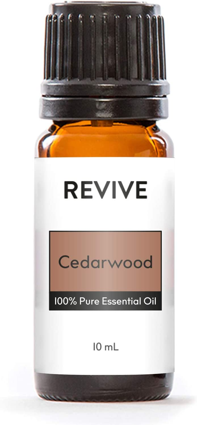 Revive Essential Oils Cedarwood 10 ml -100% Pure Therapeutic Grade, for Diffuser, Humidifier, Massage, Aromatherapy, Skin & Hair Care - Cruelty Free - Unrefined Oils with No Fillers