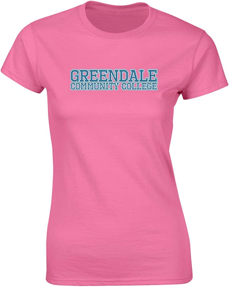 Brand88 - Greendale Community College, Ladies Printed T-Shirt