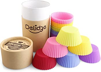 24-Pack Delidge Silicone Baking Cups