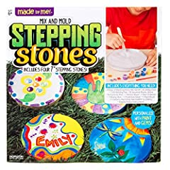 Get first-hand experience in forming stepping stones with the Made by Me Mix and Mold Stepping Stone kit! This Stepping Stone kit encourages creativity as you learn to paint on a different surface, mix paint colors to create new hues,...