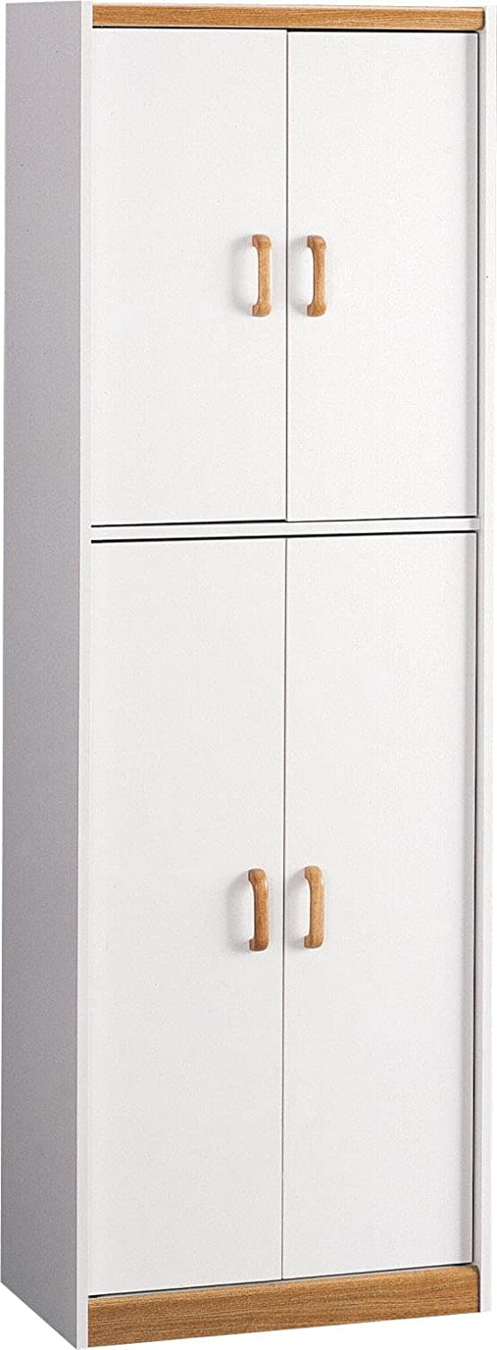 Ameriwood Home Deluxe 72 Kitchen Pantry Cabinet White Furniture Decor Amazon Com