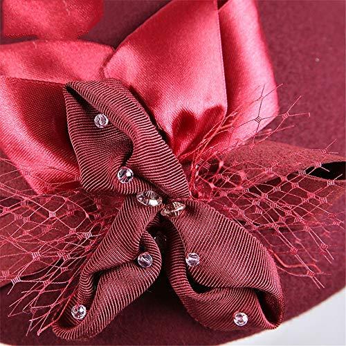 Boinas Clásico Francés Negro Jujube Chenyongping Para Lujo Accesorio Boina Mujer Sombrero De color Artista Del Vestido La d7qHxwARq