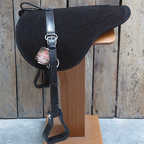 HILASON Natural Horsemanship Leather Bareback Western Treeless Saddle Pad