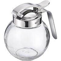 Westmark Dispensador de crema/miel, Capacidad 250 ml, Vidrio/acero inoxidable, Rome, Transparente/plata, 65402260