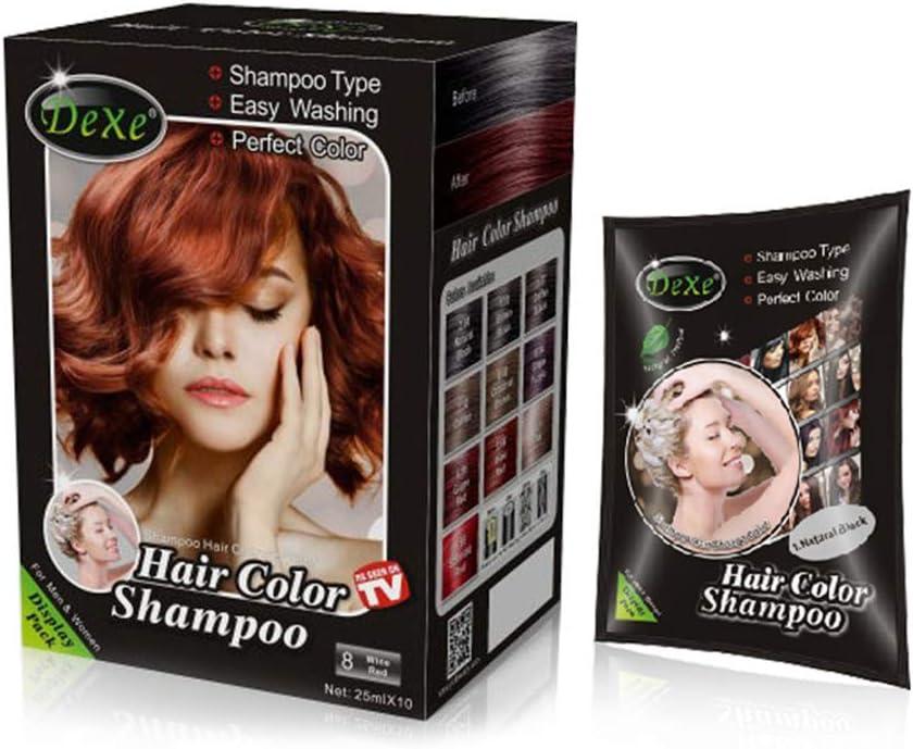 UniM tinte instantáneo para el cabello, 3 colores, champú para el cabello, fácil de usar, dura 30 días, ingredientes naturales