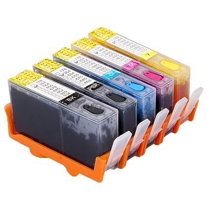 oyat® 4 x 364 Full cartucho de tinta recargable para HP 364 de ...