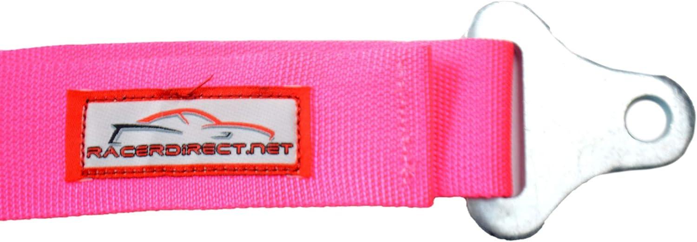 Racerdirect.net Black SEAT Belt Race Style 3 Point Harness Bolt in Y Floor Mount Push Button