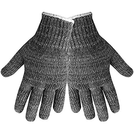 Global Glove S98G Polyester Cotton Heavyweight String Knit Glove Work Mens Gray Case Of 300