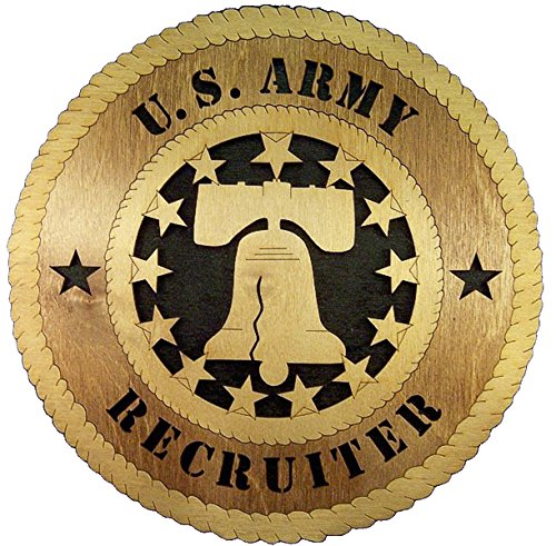 Engraved Liberty Bell - Laser Engraved, Personalized WT379 Army Recruiter Liberty Bell Wall Plaque