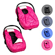 Cozy Cover Premium Infant Car Seat Cover (Pink) with Polar Fleece - The Industry Leading Infant Carrier Cover Trusted by Over 5.5 Million Moms for Keeping Your Baby Warm