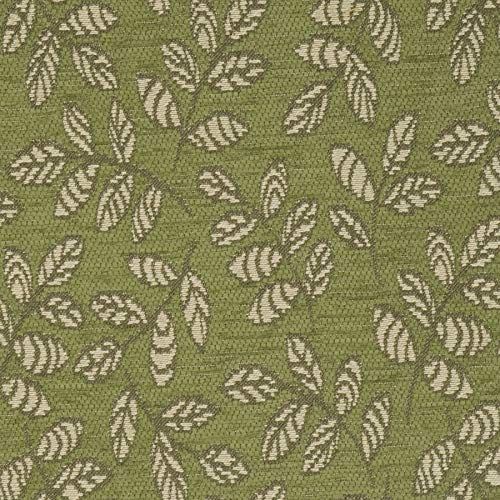 Garden Green Leaves Contemporary Modern Wovens Chenille Environment Plus Green Upholstery Fabric by the yard ()