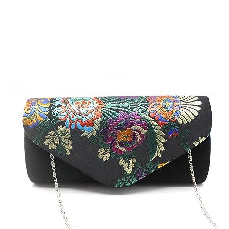 97975e1f18be Amazon.com: Women Evening Clutch Flap Magnet Envelope Purse Chinese ...