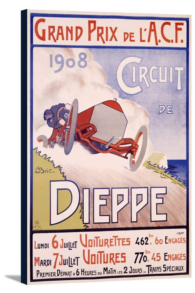 回路deディエップヴィンテージポスター(アーティスト: Bric )フランスC。1908 24 x 36 Gallery Canvas LANT-3P-SC-59793-24x36 B0184B6ZL4  24 x 36 Gallery Canvas