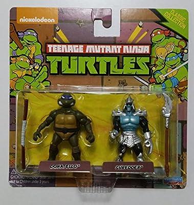 Teenage Mutant Ninja Turtles Classic Collection Donatello & Shredder Miniature Figures