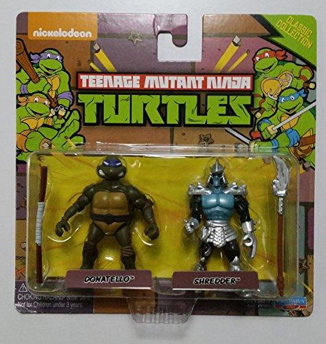 Teenage Mutant Ninja Turtles Classic Collection Donatello & Shredder Miniature Figures (Playmates Tmnt Turtles)