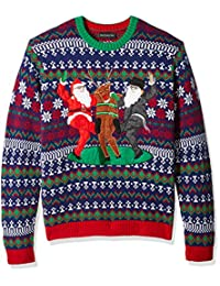Blizzard Bay Men's Holiday Squad Crew Neck Ugly Xmas, red Combo, L
