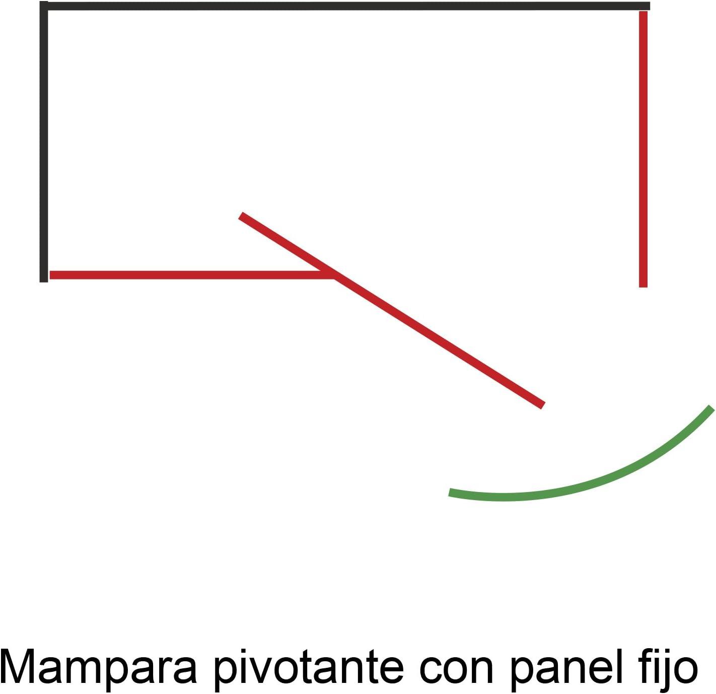 Mampara AURA Rectangular Pivotante con Lateral Fijo de 90 cm - 2 Hojas FIJAS + 1 Hoja PIVOTANTE. Cristal TRANSPARENTE. (90 x 90 x 195 cm): Amazon. es: Bricolaje y herramientas
