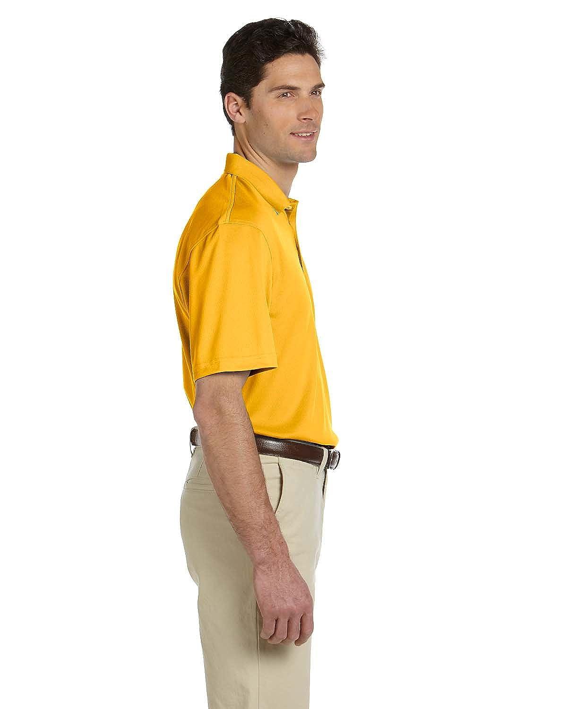 Harriton Mens Double Mesh Sport Shirt GOLD S