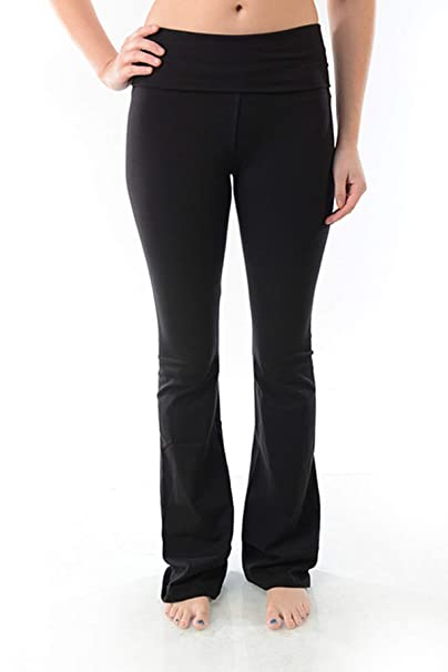 7244923cff1ae9 Amazon.com  T Party Fold Over Waist Yoga Pants  Clothing