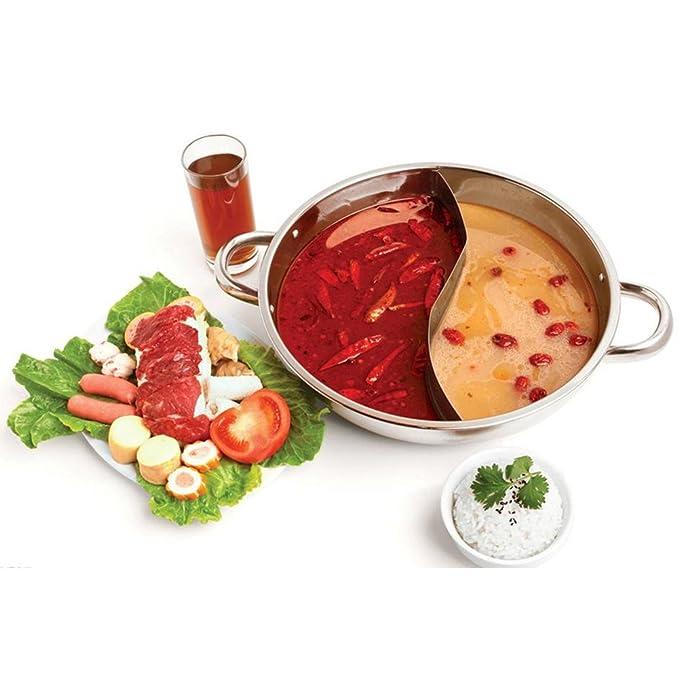 hofumix Shabu Shabu doble cara Hot Pot con separador ...