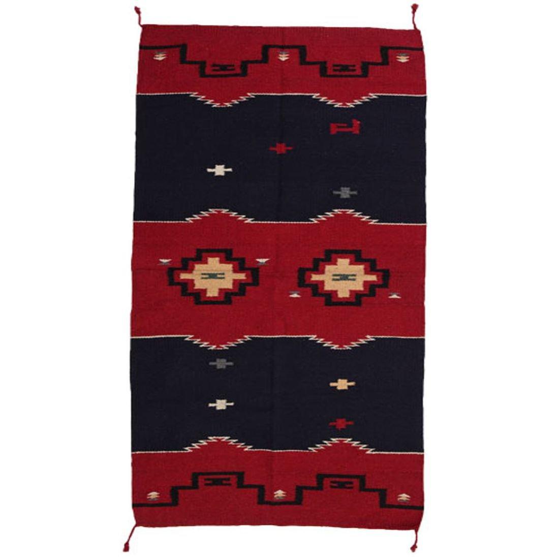 The Route 66 Shop Teppich Läufer im Stil der Navajo-Indianer - Wolle - Premium Rug III - 160x80