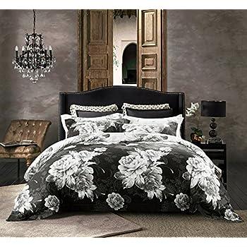 jieshiling cotton wrinkle count egyptian quality duvet cover set king black