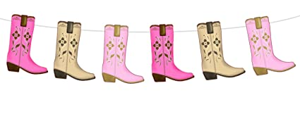 Amazon Com Crafty Cue 5 5 Tall Cowgirl Boot Garland