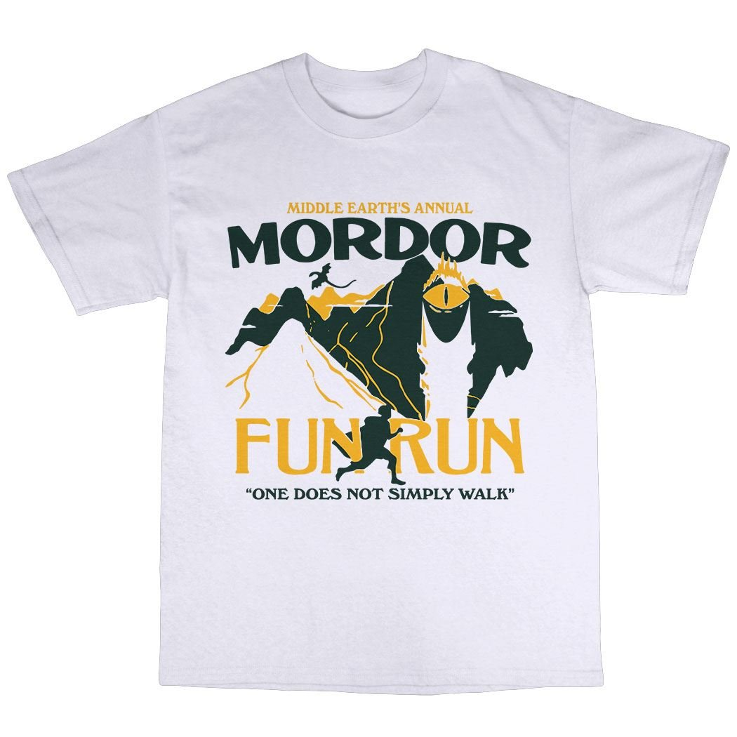 223549324 Amazon.com: Bees Knees Tees Mordor Middle Earth Fun Run T-Shirt 100%  Premium Cotton: Clothing